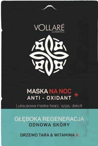 Vollaré MASKA REGENERUJĄCA NA NOC anti-oxidant 2 x 5 ml