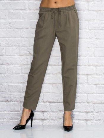 YUPS Khaki spodnie z troczkami