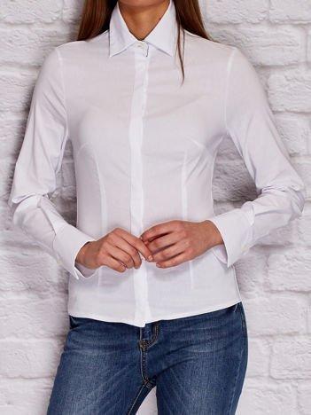 YUPS Koszula damska na guziki biała