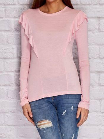 YUPS Różowa bluzka z falbanami