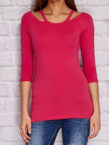 YUPS Różowa bluzka z wycięciami