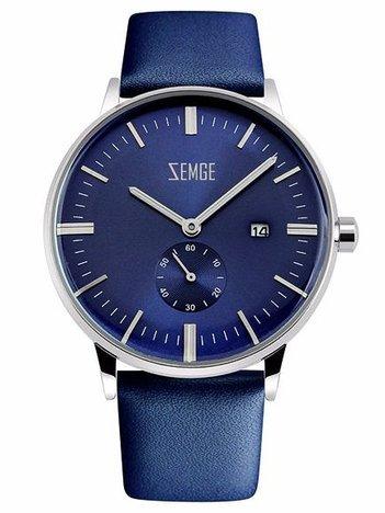 ZEMGE Zegarek męski ZC0302 Połączenie klasyki z nowoczesnością w zegarku o zjawiskowym wyglądzie Kolor granatowy