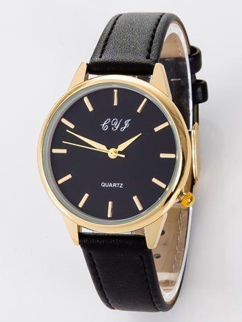 Zegarek damski czarno-złoty