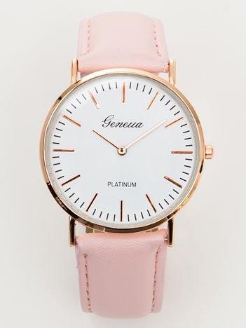 Zegarek damski pudrowy róż klasyczny