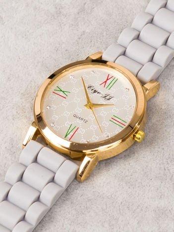 Zegarek damski z pięknym wzorem na tarczy i cyrkoniami  HIT!