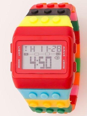 Zegarek unisex z kolorowych klocków Wiele wariantów kolorystycznych