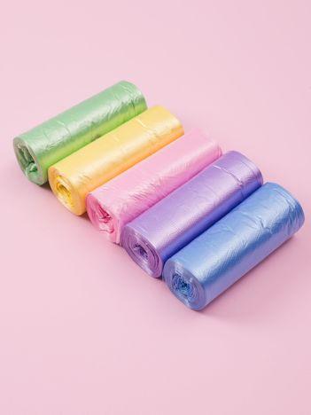 Zestaw kolorowych worków na śmieci