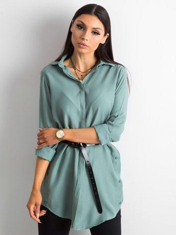 Zielona bawełniana koszula