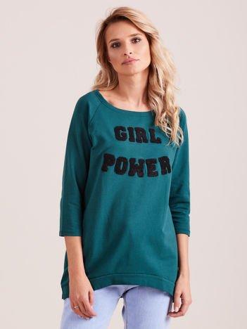 Zielona bluzka GIRL POWER