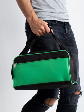 Zielona męska torba na ramię