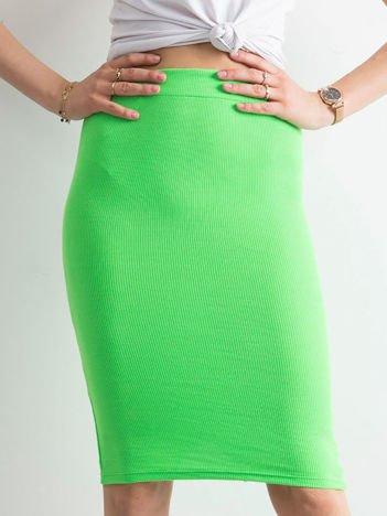 Zielona spódnica tuba w prążek