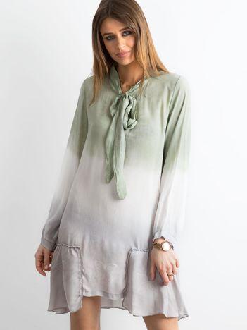 Zielona sukienka ombre