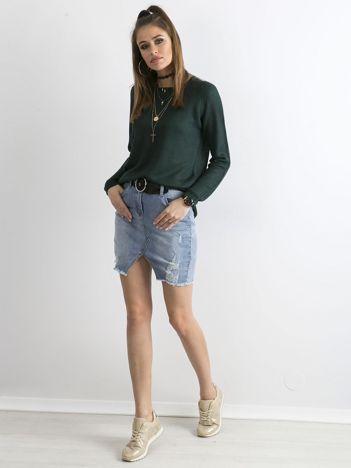 Zielony damski sweter z dzianiny