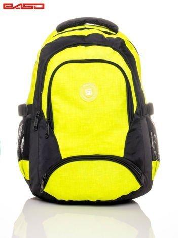Zielony gładki plecak szkolny