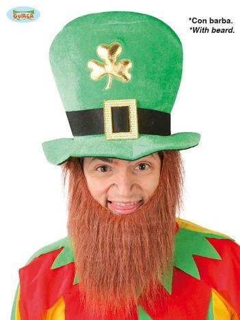 Zielony kapelusz z brodą