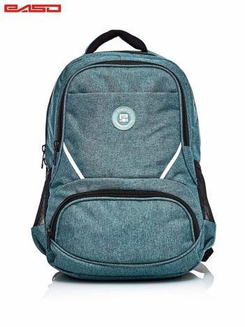 Zielony plecak szkolny z kieszeniami