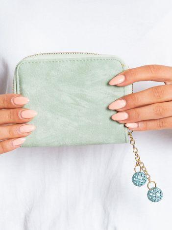 Zielony portfel z ekoskóry
