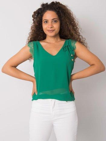 Zielony top z koronką Sapphire