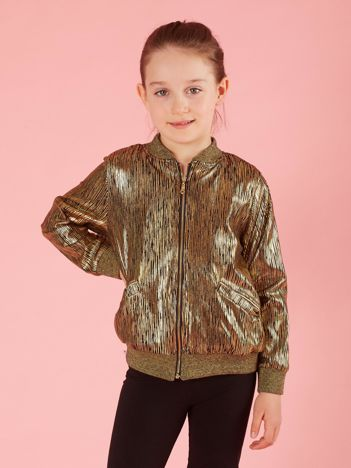 Złota bluza bomberka dziewczęca