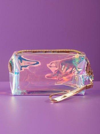 Złota kosmetyczka hologramowa