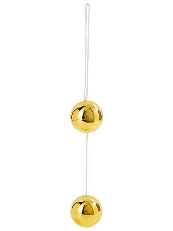 """Złote eleganckie, modne i wykonane z mocnego materiału kulki Candy """"Lux"""" to szczyt stymulacji analnej."""
