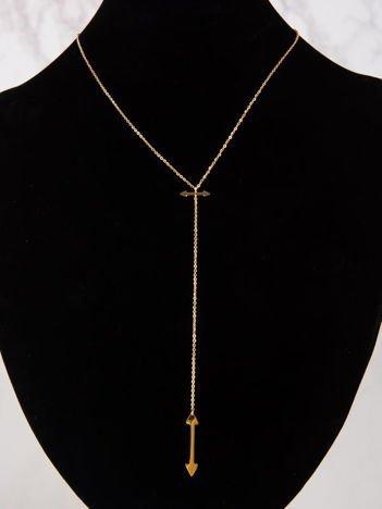 Złoty naszyjnik gwiazd celebrytka krawat STAL CHIRURGICZNA 316