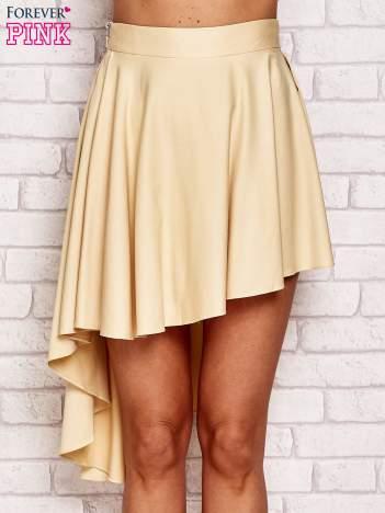 Żółta asymetryczna spódnica z falbanami