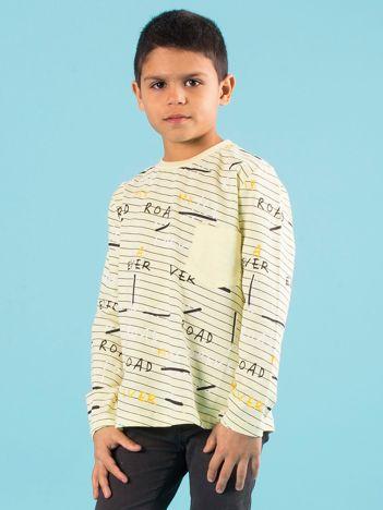 Żółta bawełniana bluzka dla chłopca