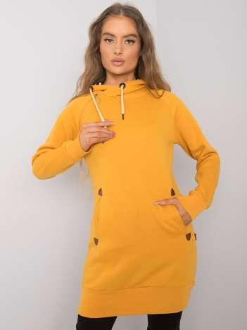 Żółta bluza z kieszeniami Embry