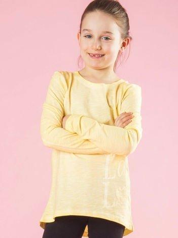 Żółta bluzka dziewczęca
