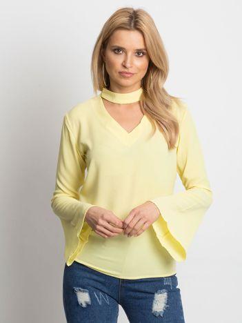 Żółta bluzka z chokerem