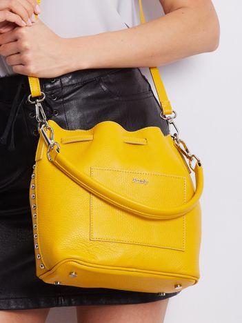 Żółta skórzana torebka