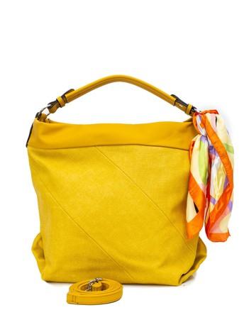 Żółta torba z apaszką