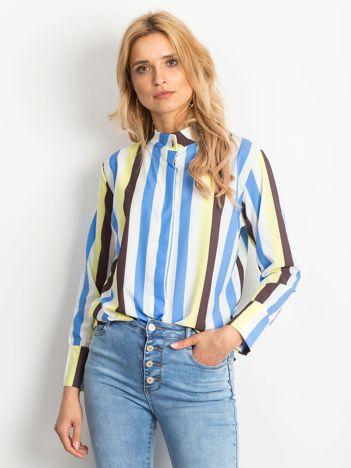 Żółto-biała koszula w paski