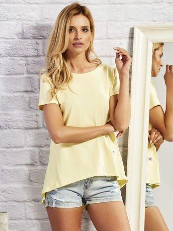 Żółty asymetryczny t-shirt