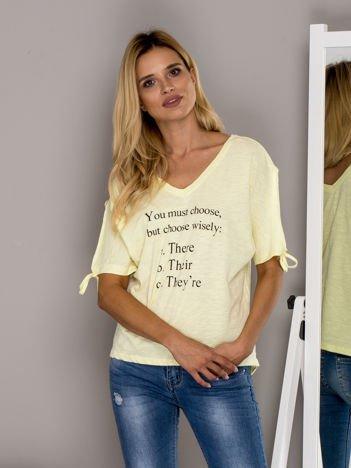 Żółty t-shirt YOU MUST CHOOSE