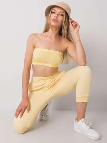 Żółty top bandeau Behati