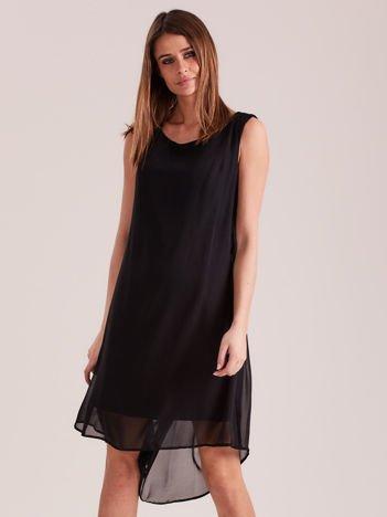 4f4b491594 Zwiewna sukienka czarna PLUS SIZE