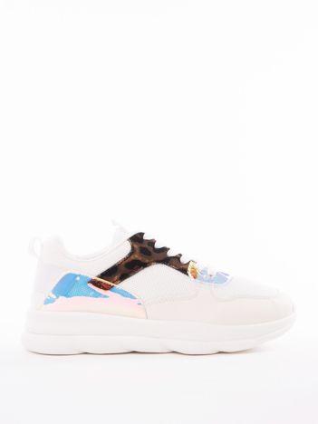 iałe buty sportowe MARQUIZ z holograficznymi wstawkami