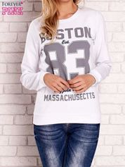 Biała bluza z napisem BOSTON 83