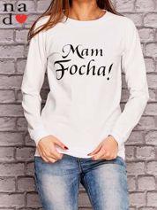 Biała bluza z napisem MAM FOCHA