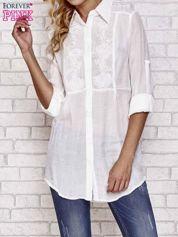 Biała koszula hippie z haftem