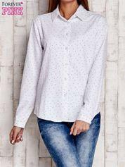 Biała koszula z delikatnym wzorem