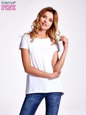 Biały jednolity t-shirt