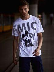 Biały t-shirt męski MICKEY MOUSE