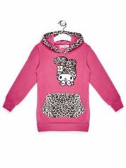 Bluza z kapturem dla dziewczynki różowa