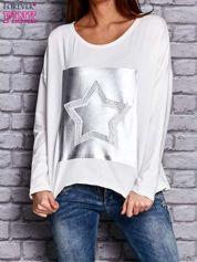 Bluza z motywem gwiazdy ecru