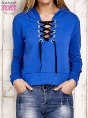 Bluza z wiązaniem niebieska