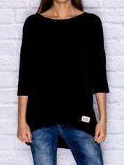 Bluzka oversize z kokardkami czarna