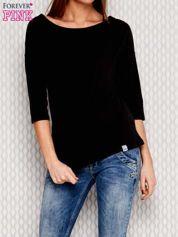 Bluzka oversize ze skrzyżowaniem na plecach czarna